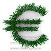 Euro Sign Made of Grass