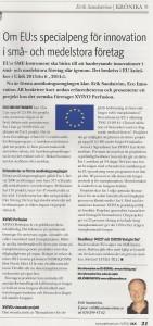 EU:s SME-Instrument - första erfarenheter